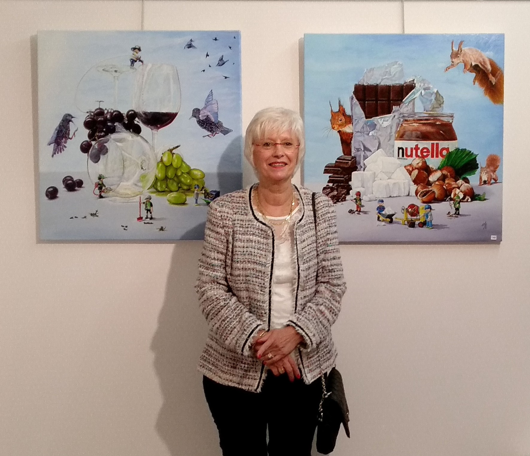 Martine Cadoret au Salon International d'automne à Lunéville en 2018